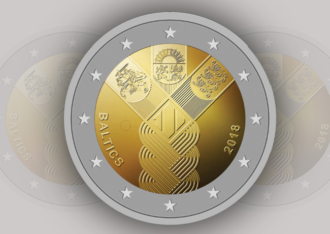 2018 joined 2€ commemorative coin of baltic states