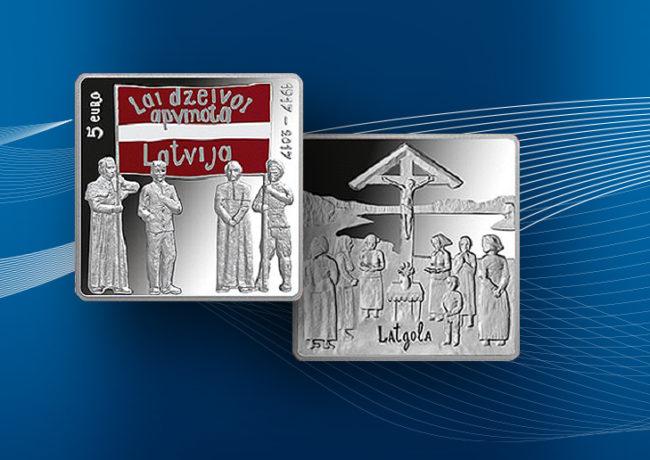 2017 latvian €5 coin – 1917 LATGALE CONGRESS