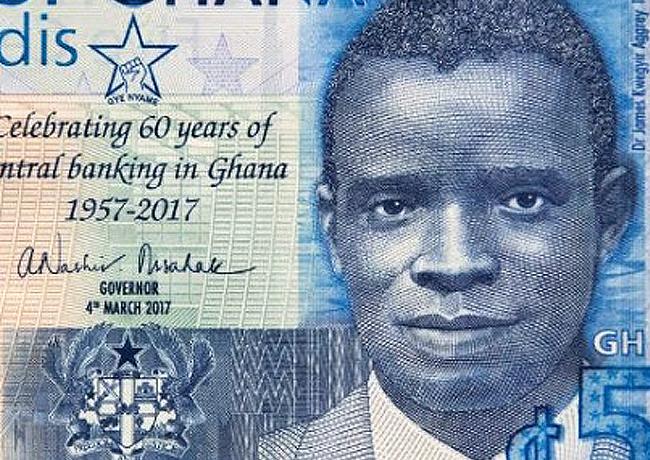 Billet commémoratif de 5 cedis du Ghana