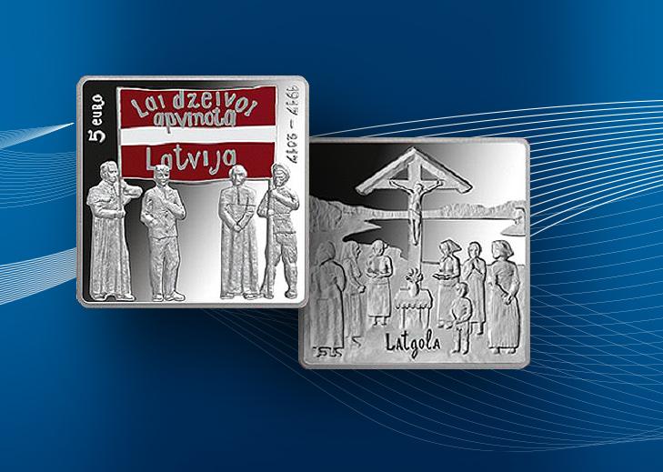 5€ lettone congrès de LATGALE 1917