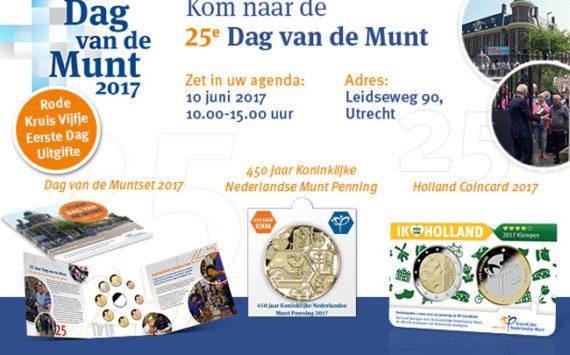 25ème «Jour de la Monnaie» à Utrecht le 10 juin 2017