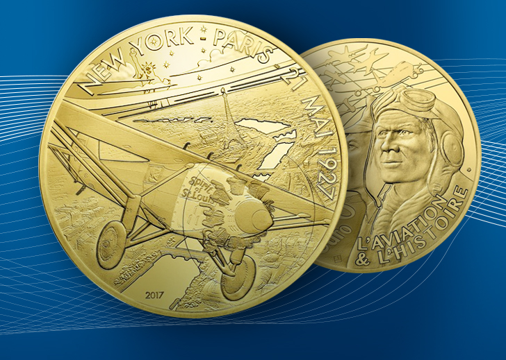 "2017 ""Spirit Of Saint Louis"" french coin"