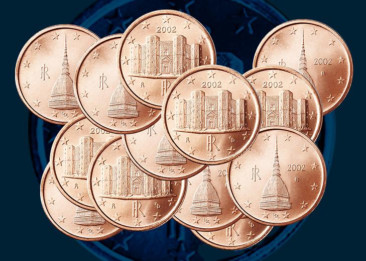 Italie 2018 : Chant du cygne pour les pièces de 1 et 2 cents d'euro