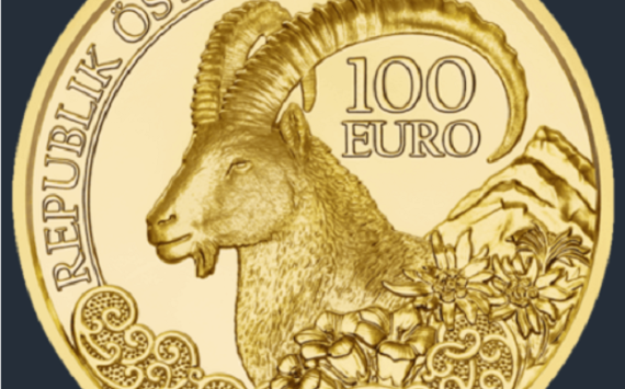Austria – €100 gold coin dedicated to alpin IBEX