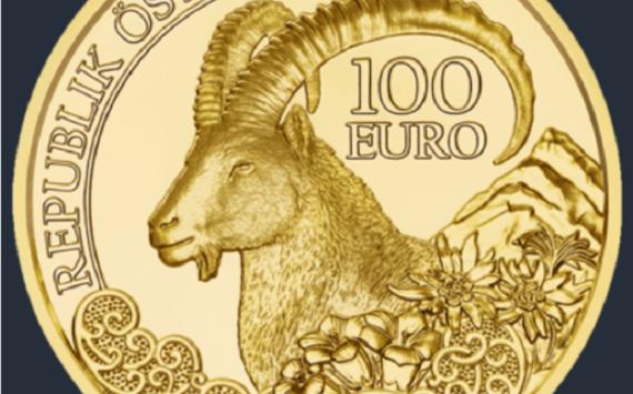 Autriche – un bouquetin alpin de 100 euros or