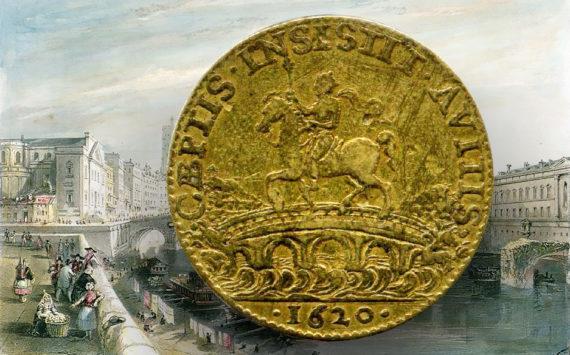 """Toulouse """"Pont neuf"""" bridge through french tokens"""