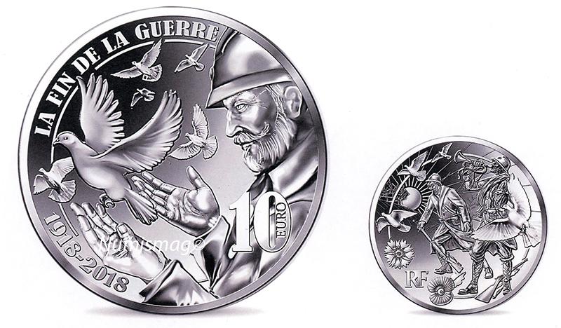 10 euro Argent – La fin de la guerre 1918-2018 - Monnaie de Paris