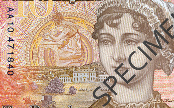2017 New english polymer 10 pounds banknotes – Jane AUSTEN