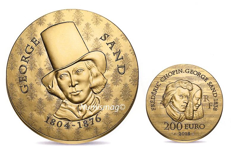 200 euro Or George Sand - 2018 monnaie de Paris 2018-Les femmes qui ont marqué l'histoire de France