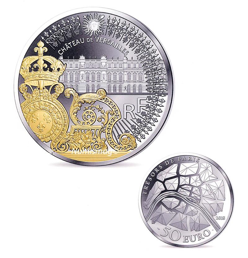 piece de monnaie chateau de versailles