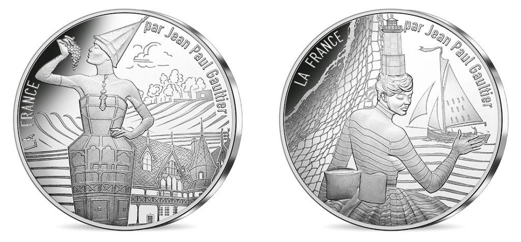 10€ Argent - La Bourgogne millésimée et La Bretagne Breizh