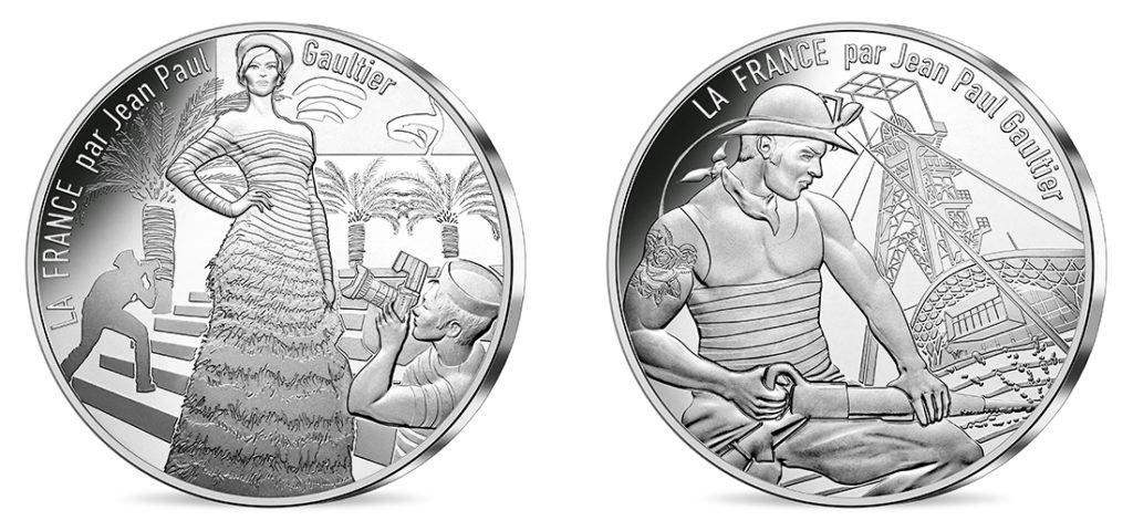 10€ Argent - La Côte d'Azur légendaire et La Lorraine courageuse Nouvelles série de pieces 10€ jean-paul-gauthier Les régions françaises