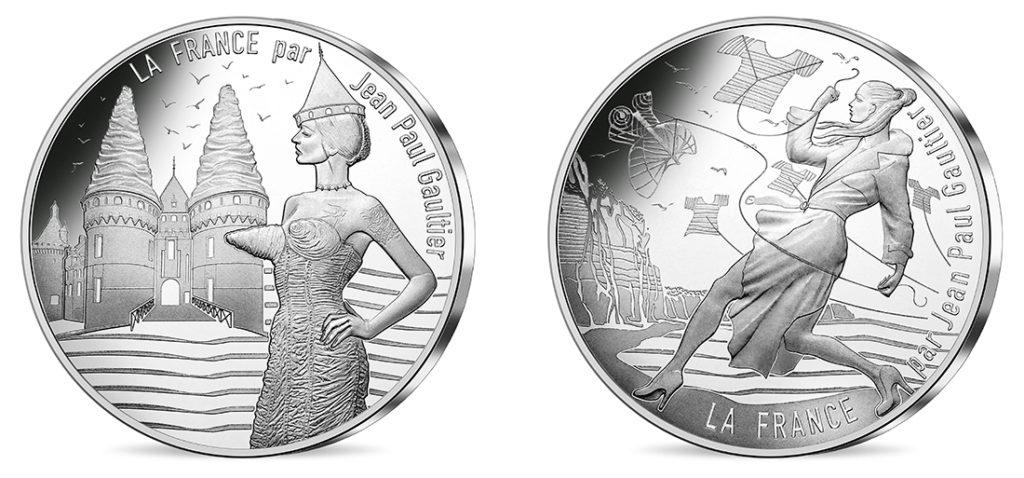 10€ Argent - La Touraine royale et Le Nord vivifiant-Nouvelles série de pieces 10€ jean-paul-gauthier Les régions françaises