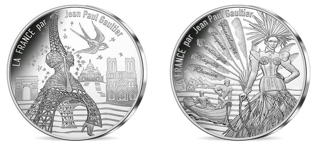 10€ Argent - Paris, universelle et L'Outre-mer étincelant Nouvelles série de pieces 10€ jean-paul-gauthier Les régions françaises