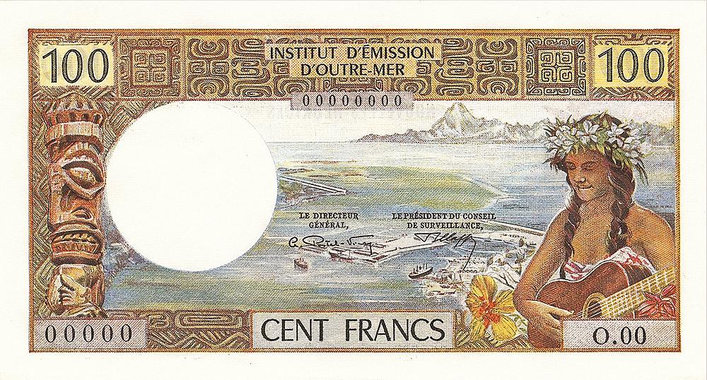 100Fr IEOM type 1968 - Nouvelles Hébrides - Les émissions monétaires des Nouvelles-Hébrides - IEOM - Billets Pièces