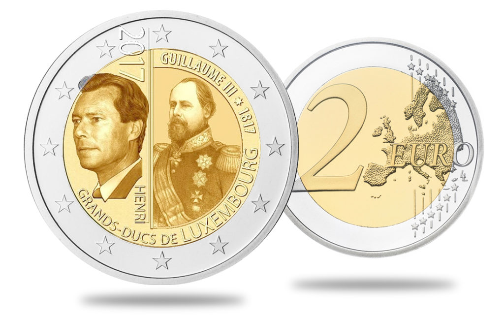 Nouvelle 2€ commémorative Grand-Duc Guillaume III - Luxembourg