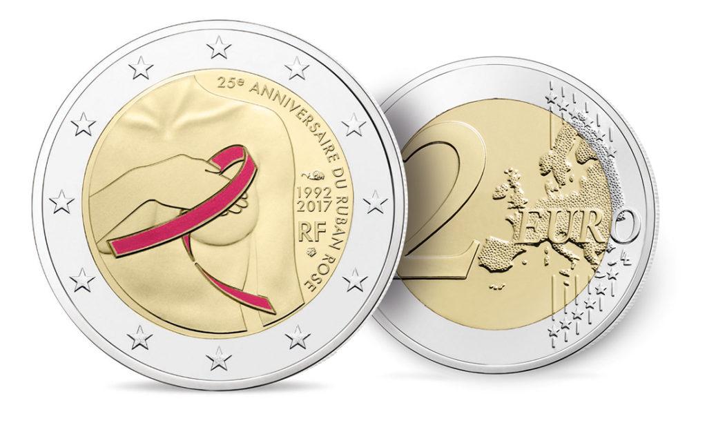 2€ 2017 commémorant la lutte contre le cancer du sein
