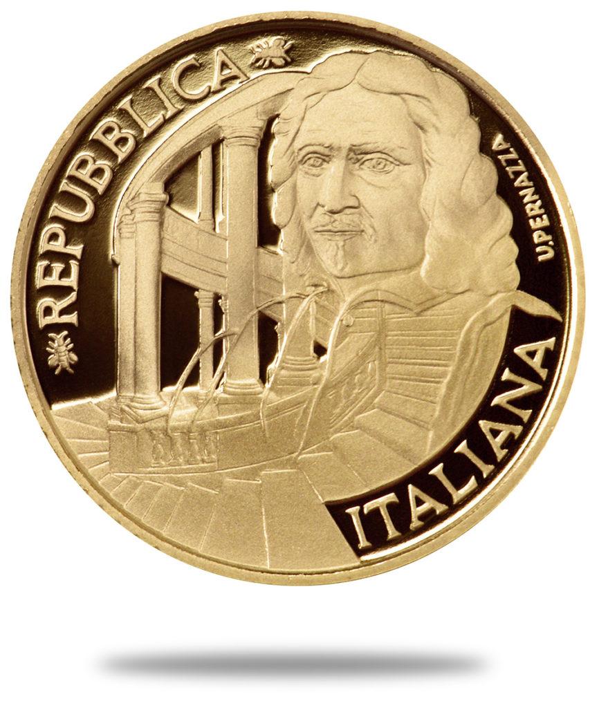 2017 italian BORROMINI €20 gold coin - Numismag