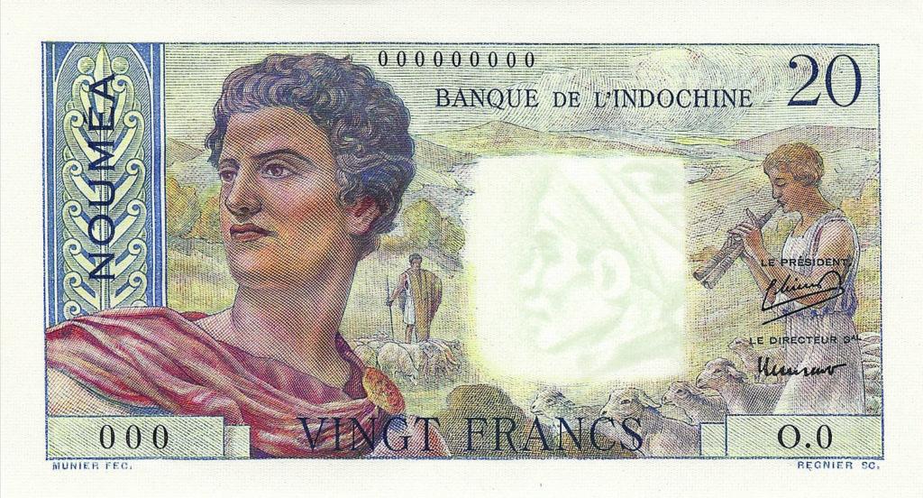 Vingt francs, jeune berger, type 1951 IEOM