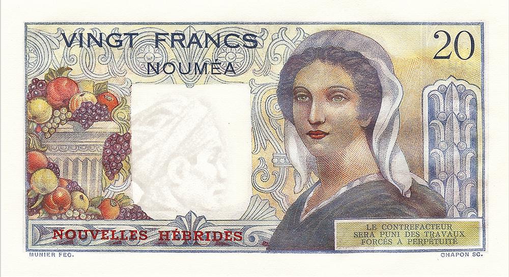 20F BIC type 1951 Nouvelles-Hébrides - Les émissions monétaires des Nouvelles-Hébrides - IEOM - Billets Pièces