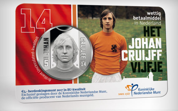 2017 Johan CRUYFF commemorative euro coins (€5 and €10)