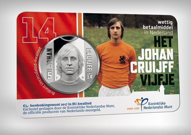 5 et 10€ Johan CRUYFF, les pièces commémorative 2017 de la KNM