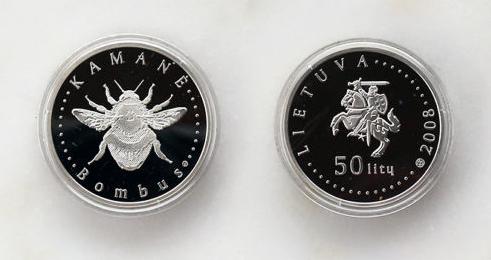 50 litas argent - Kamane Bombus