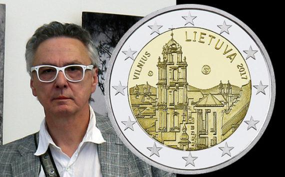 VLADAS ORZEKAUSKAS coin designer of lituanian 2017 €2 VILNIUS