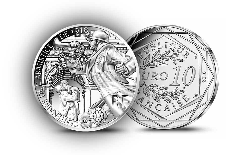 10 en Argent - Pièces 100 ans de l'Armistice - Bleuet - Programme Monnaie de Paris 2018