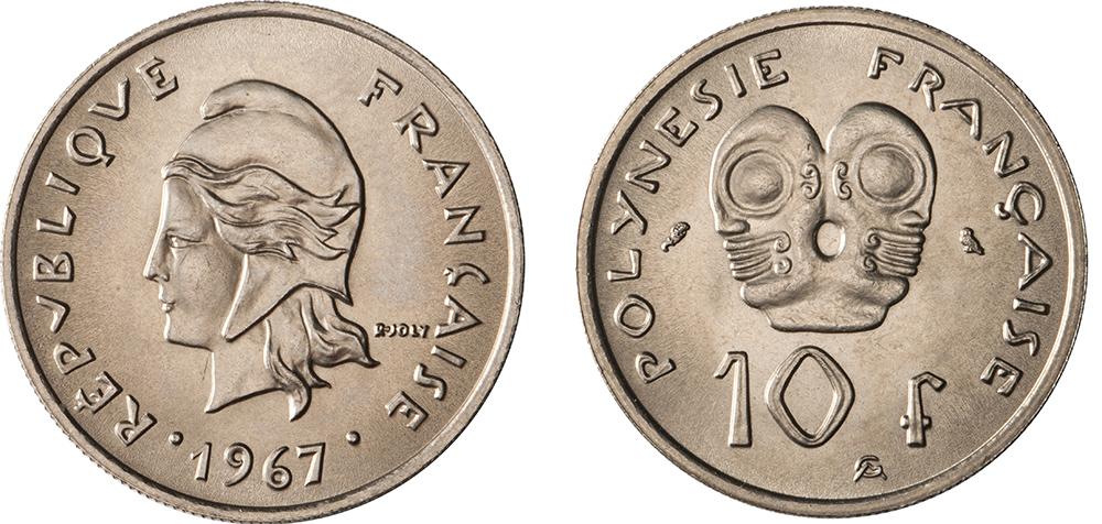 10 francs 1967 gravure de Joly & Guzman