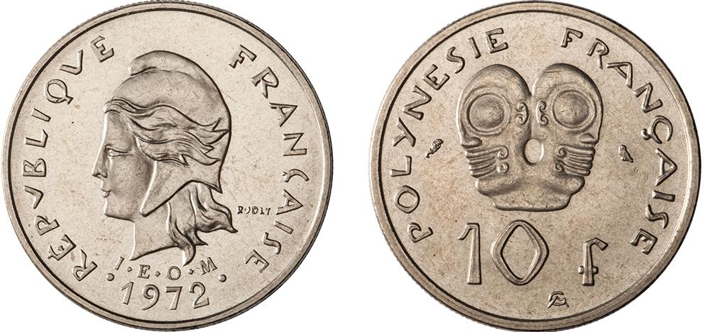 10 francs 1972 IEOM gravure de Joly & Guzman