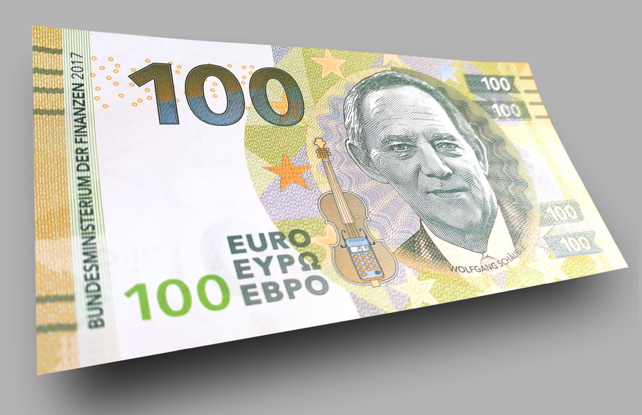 €100 euros commemorative banknote W. SCHAUBLE 2017