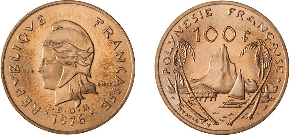 100 francs 1976 IEOM gravure de Joly & Guzman