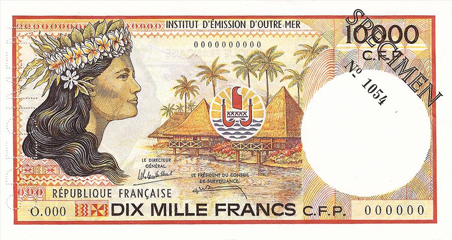 Emissions Monetaires De La Polynesie Francaise Ieom Billets Et Pieces