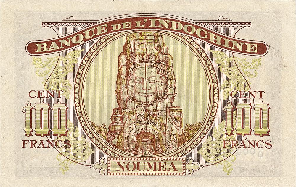 100 francs Minerve marron, type 1941 Nouvelle-Calédonie Émis en 1942 Impression Australienne