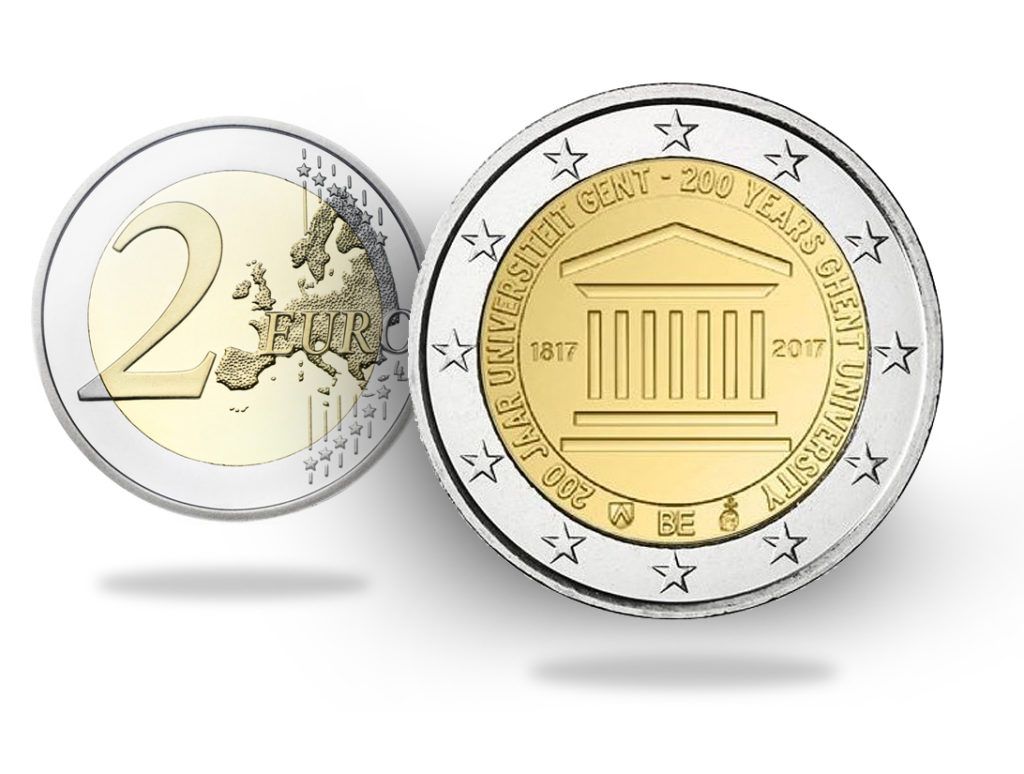 2017 €2 commemorative coin from BELGIUM - GAND UNIVERSITY and end of Belgian mint worshop