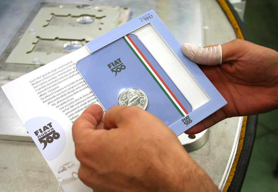 5€ Fiat 500 - instituto poligrafico