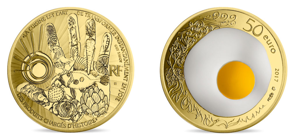 2017 Monnaie de Paris Egg coins dedicated to Guy SAVOY