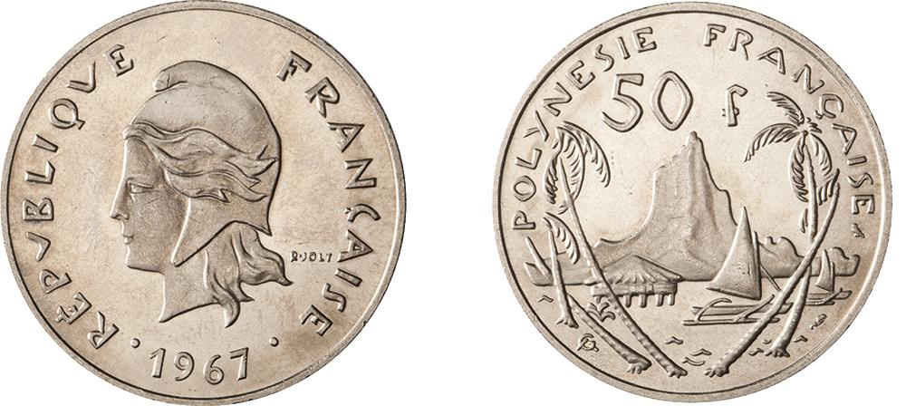 50 francs 1967 gravure de Joly & Guzman