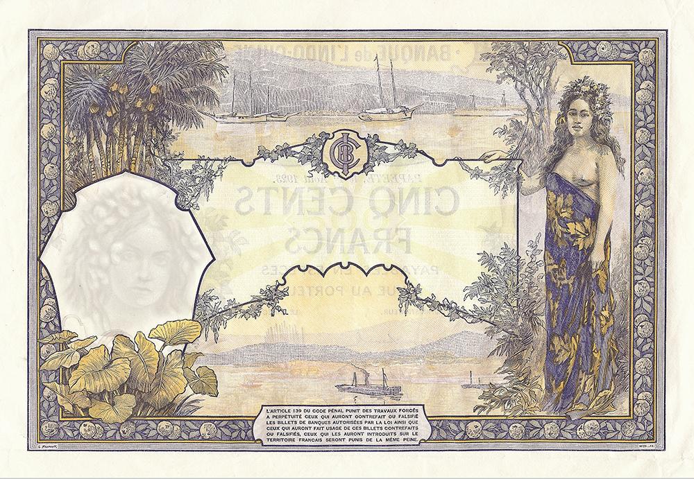 500 francs, type 1923 Polynésie français
