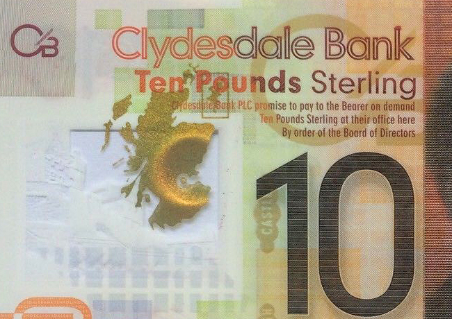 2017 CLYDESDALE Bank 10 pounds Robert BURNS banknote