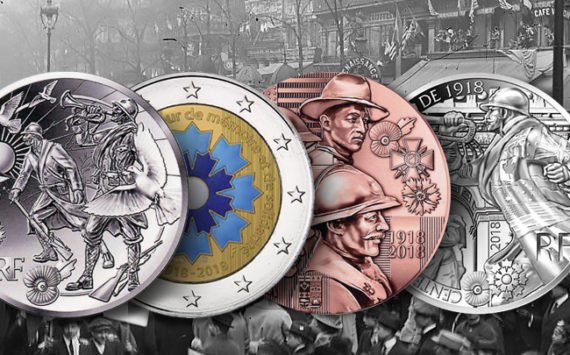 Pièces les 100 ans de l'Armistice – Bleuet de France – programme de la monnaie de Paris 2018