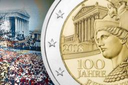 Austrian 2018 €2 commemorative coin – 100th anniversary of austrian Republic
