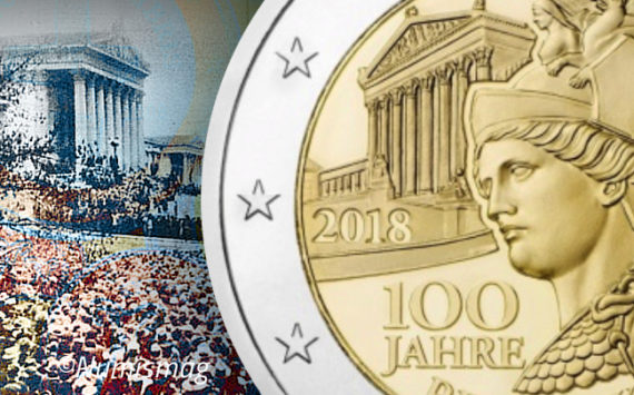 Austrian 2018 €2 commemorative coin – 100th anniversary of austrian Republic