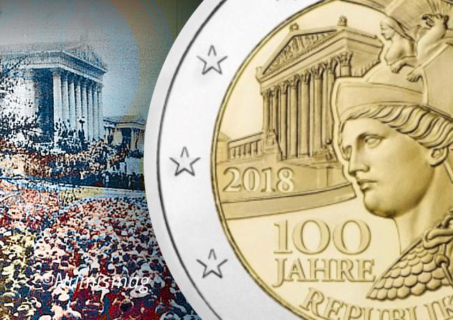 2€ Centenaire de la République d'Autriche 1918 – 2018
