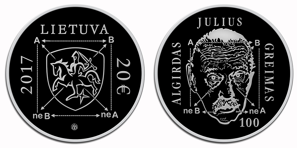 20 € 100 ème anniversaire d'Algirdas Julien Greimas - ROLANDAS RIMKUNAS