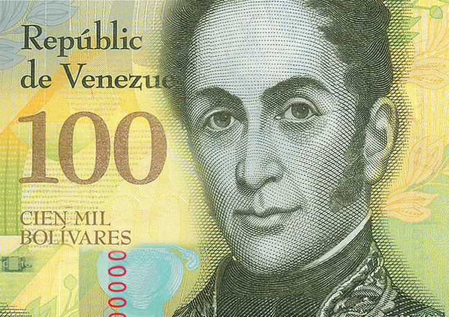 VENEZUELA 100 000 bolivars new banknote may generate confusion and errors in the country
