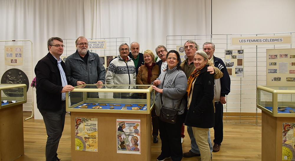 Exposition 2017 du CNA - club numismatique d'Argenteuil