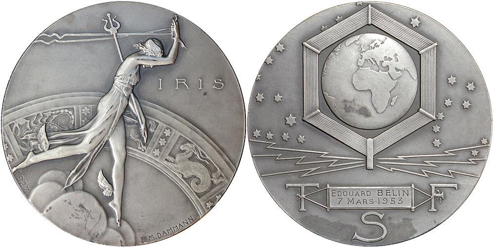 Médaille électricité Dammann- club numismatique d'Argenteuil