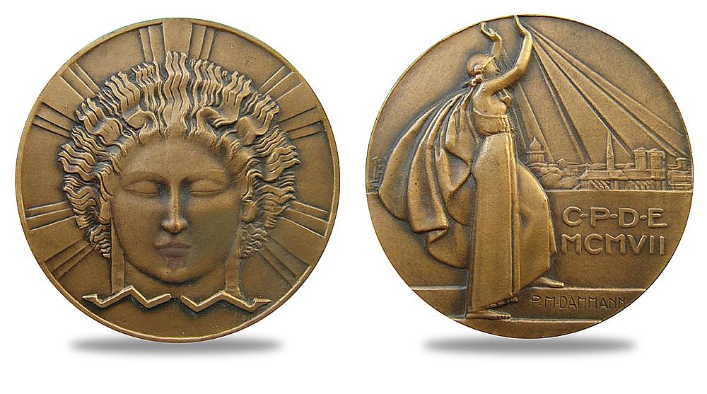 Médaille électricité Darmann - club numismatique d'Argenteuil